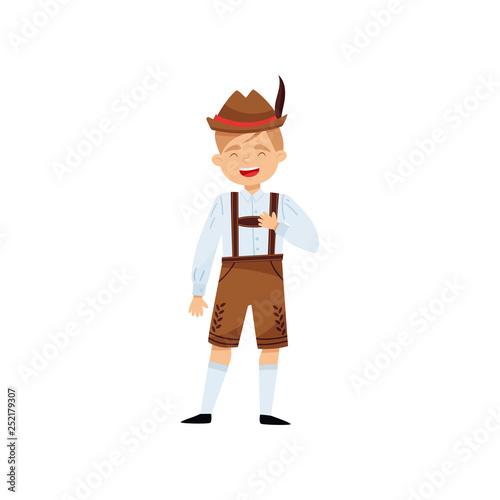 Fotografie, Obraz  Laughing boy in national Bavarian costume