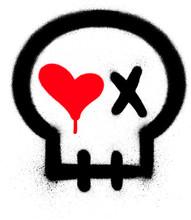 Graffiti Passionate Skull Icon...