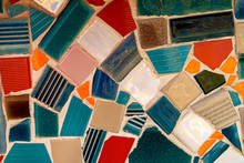 Decorative The Mosaic On The Wall Background.