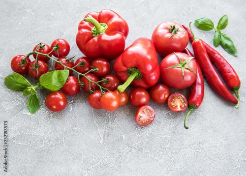 Fototapeta Fresh red vegetables obraz
