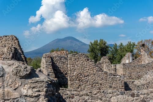 Obraz na płótnie Monte Vesúvio visto de Pompeia, Itália