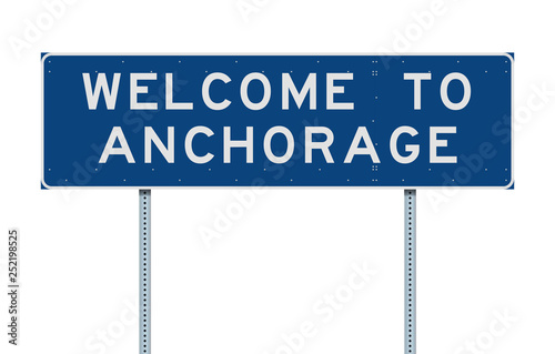 Welcome to Anchorage road sign Wallpaper Mural