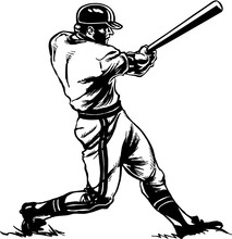 Baseball Batter Vector Illustr...