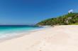 Empty tropical beach on exotic island.