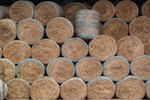 Fototapeta Huge barn for storing hay