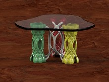 Table, Japanese Oak Floor, Pre...