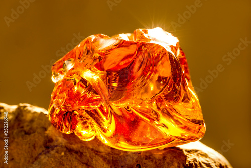 Photo Amber in sun with inclusions