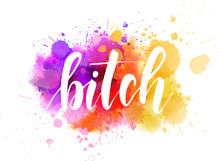 Bitch - Handwritten Lettering Phrase