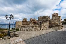 Ruins Of Medieval Fortification Walls, Nessebar, Bulgaria