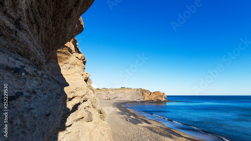 Fotografiet falaises volcaniques du Cap d'Agde