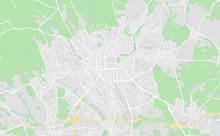 Wiesbaden, Germany Downtown Street Map