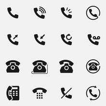 Set Of Telephone Handset Black...