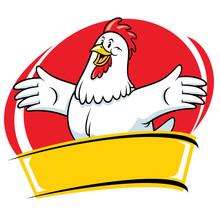 Chicken Cartoon Mascot Style Character