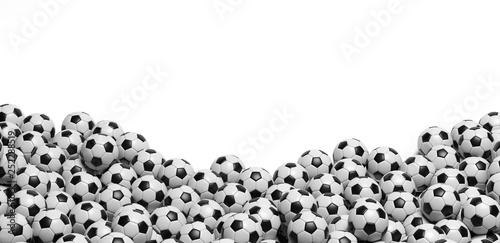 plein de ballon de foot, arrière-plan Fototapeta