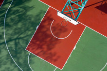 Top View Of Basketball Court