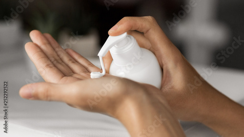 Foto op Canvas Spa Body milk for daily care concept