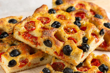 Close Up Of Focaccia Pugliese
