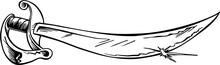 Pirate Sword Vector Illustration