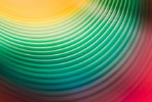 Inside Colorful Slinky Toy