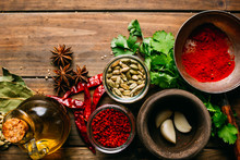 Assorted Spices And Herbs And ...