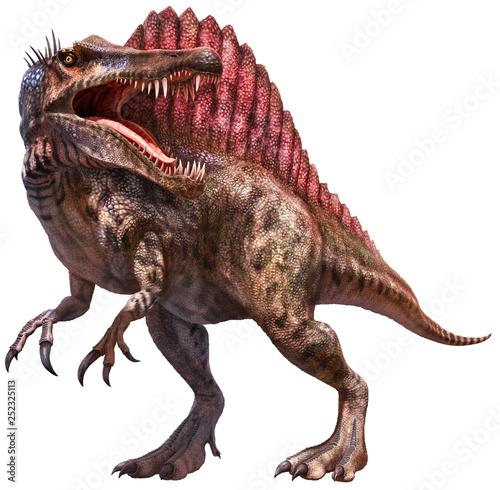 Spinosaurus dinosaur 3D illustration Canvas Print