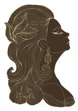 Vector Portrait In Profile Of ...