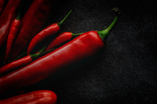 Fresh Red And Spicy Chilli Pep...