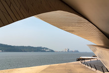 The MAAT - Museum Of Art, Architecture And Technology With Tagus River On The Background