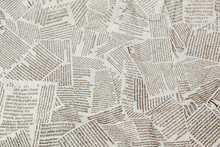 Black And White Repeating Torn Newspaper Background. Continuous Pattern Left, Right, Up And Down
