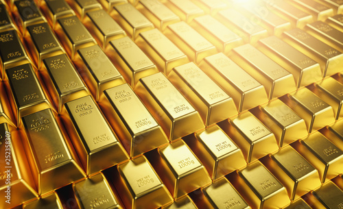 Pinturas sobre lienzo  Gold Bars 1000 grams. Concept of wealth and reserve