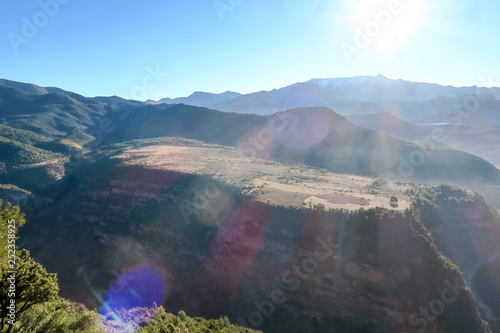 Fotografía  view of atlas mountains in morocco, photo as background