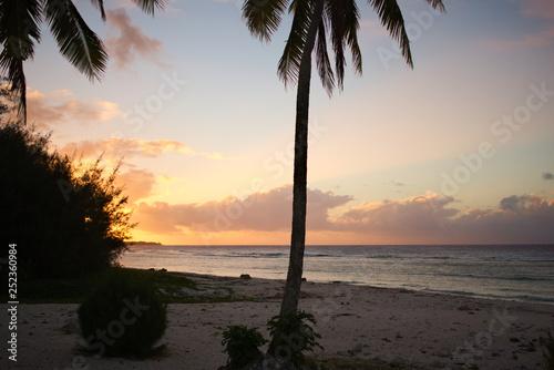Fotografie, Obraz  Rarotonga Beach Sunset
