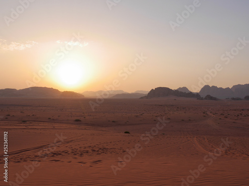 Fotobehang Baksteen View of Wadi Rum