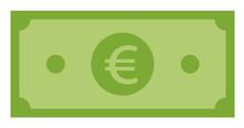 Euro Icon On White Background....