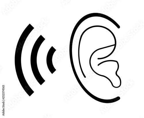 Obraz na plátne  聴力