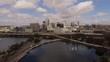 Aerial Downtown Orlando City