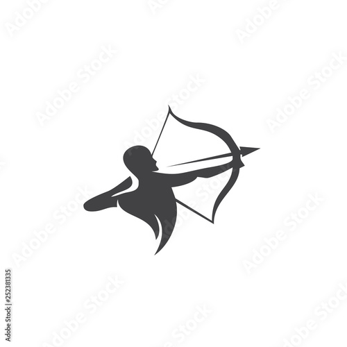 archer logo vector icon design Wallpaper Mural