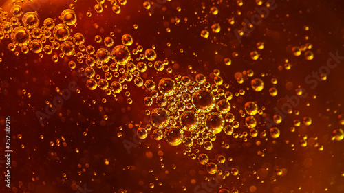 Fotografie, Obraz  Bubbles, texture, honey, vegetable oil, machine oil, juice, beer, air,