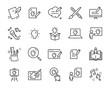 Leinwandbild Motiv set of creative icons , such as thinking, drawing, work, education