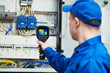 canvas print picture - thermal imaging inspection of electrical equipment