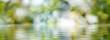 Leinwandbild Motiv image of water on a blurred background