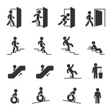 Vector Set Of People Navigation Icons.