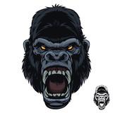 Fototapeta Fototapety na ścianę do pokoju dziecięcego - Angry Screaming Scream Gorilla