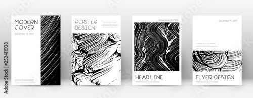 Fototapety, obrazy: Cover page design template. Minimal brochure layou