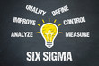 Leinwanddruck Bild - Six Sigma