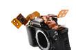 zerlegte Kamera, Elektronik, Prisma