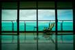 Daybed beach chair n balcony, hotel room