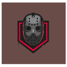 Hockey Mask Vector Logo Template