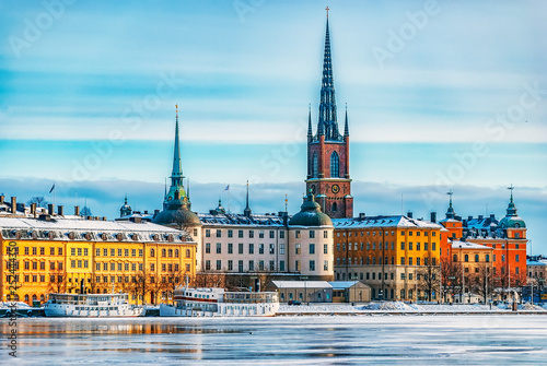Photo Stockholm Gamla Stan Winter Landscape
