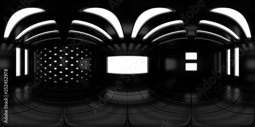 8K HDRI map, high contrast spherical environment panorama background, modern interior light source rendering (3d indoor equirectangular illustration)